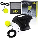 Elite Trainer Tennis Rebound Ball Set | Heavy Duty Power Base, No Filling Required | Comes With Extra Ball, Long Elastic Rope, and Custom Mesh Bag | Premium Solo Training Equipment For Any Skill Level