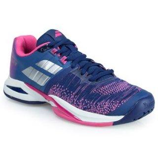 Babolat Women's Propulse Blast All Court Tennis Shoes (Blue/Pink)