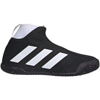 Adidas Men's Stycon Laceless Hard Court Tennis Shoes (Core Black/Cloud White)