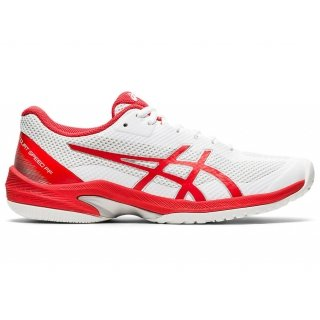 ASICS Women's Court Speed FF Tennis Shoes (White/Fiery Red)