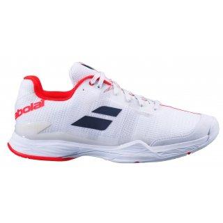 Babolat Men's Jet Mach II All Court Tennis Shoes (White/White)