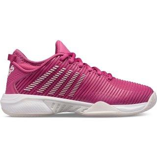 K-Swiss Women's Court Express Tennis Shoes (White/Cactus Flower Pink)